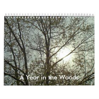 Calendário - um ano nas madeiras