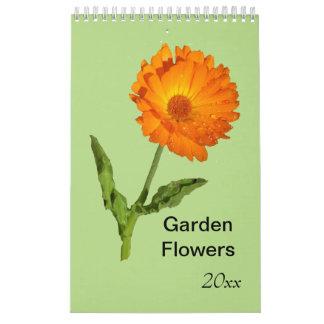 Calendário Calendário - única página - flores do jardim