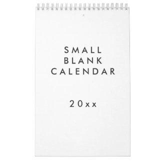 Calendário vazio pequeno - você pode