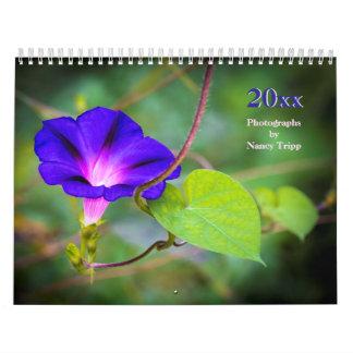 Calendário Viagem e fotografia floral por Nancy Tripp