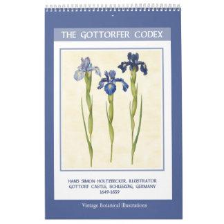 Calendário Vintage botânico - o códice 2018 de Gottorfer