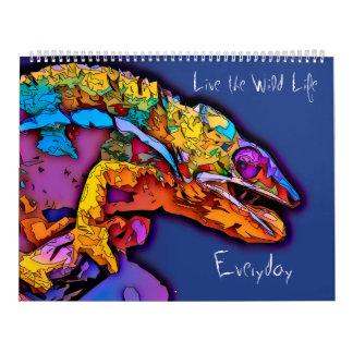 Calendário Vive a vida/calendário selvagens