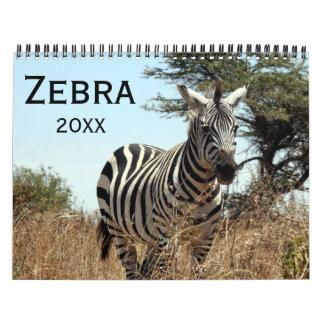 Calendário zebra 2018