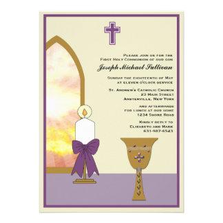 Cálice dourado - convite religioso