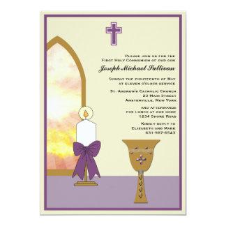 Cálice dourado - convite religioso convite 12.7 x 17.78cm