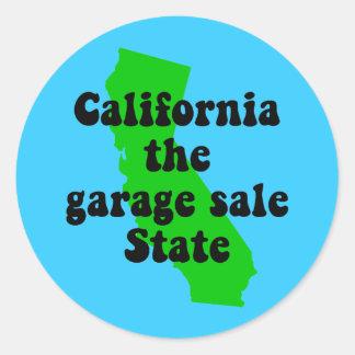 Califórnia engraçada adesivo em formato redondo