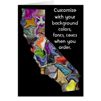 Califórnia personaliza o cartão colorido como você
