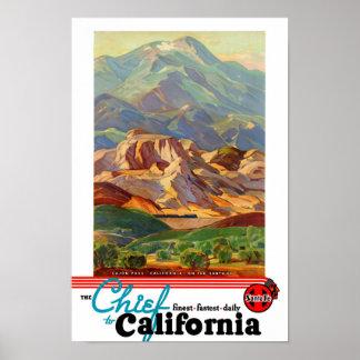 Califórnia restaurou o poster das viagens vintage