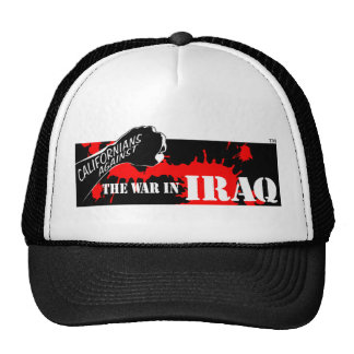 Californianos contra a guerra no iraque bonés