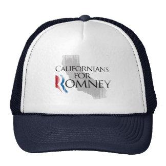Californianos do vintage para Romney.png Bonés