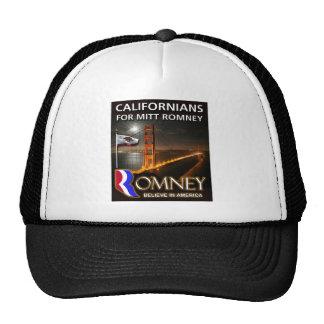 Californianos para Mitt Romney 2012 Boné