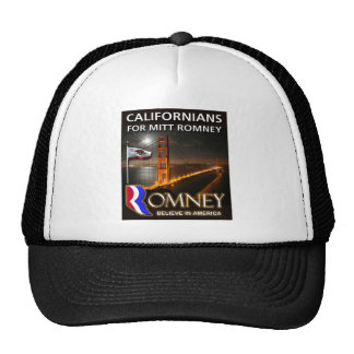 Californianos para Mitt Romney Bonés