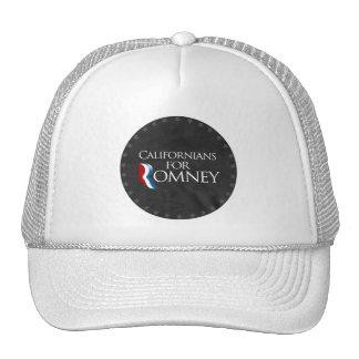 Californianos para Romney-.png Boné