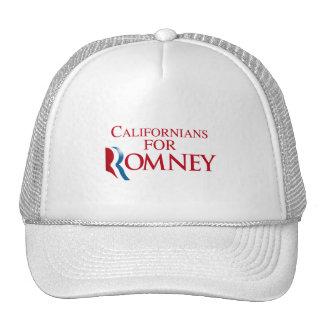 CALIFORNIANOS PARA ROMNEY png Bonés