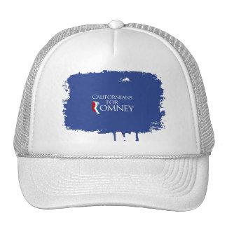 Californianos para Romney- png Bonés