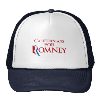 CALIFORNIANOS PARA ROMNEY.png Boné