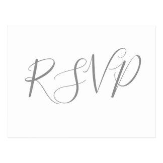 Caligrafia de prata que wedding cartão de RSVP