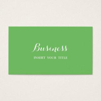 Caligráfico elegante na moda minimalista da cartão de visitas