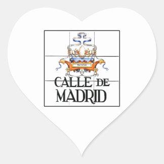 Calle de sinal de rua de Madrid, Madrid Adesivo Coração