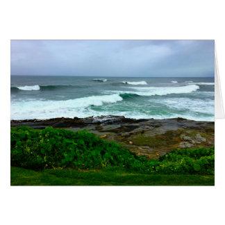 Calma da costa oeste antes do cartão da tempestade