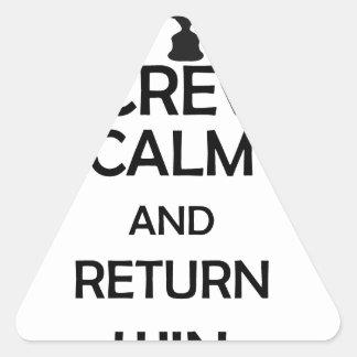 calma do parafuso e vitória do retorno adesivo triangular