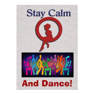 Calma e dança da estada convite personalizados