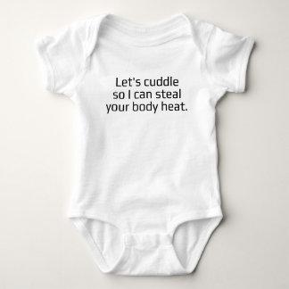 Calor do corpo body para bebê