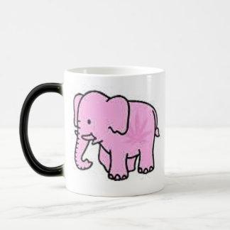 Calor do elefante cor-de-rosa - caneca & logotipo