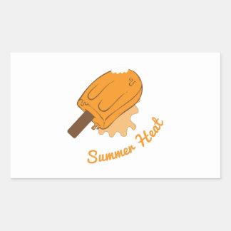 Calor do verão adesivo em formato retângular
