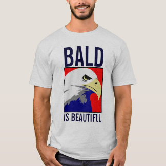 Calva é a camisa bonita de Eagle do americano