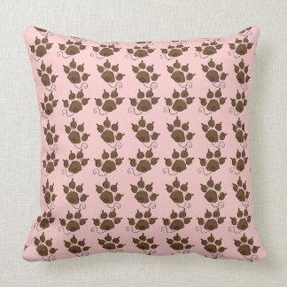 Cama bonito do cão do rosa da pata do cão almofada