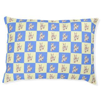 Cama Checkered do cão de bull terrier