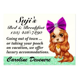 Cama do Doggy - e - pequeno almoço - SRF Cartão De Visita Grande