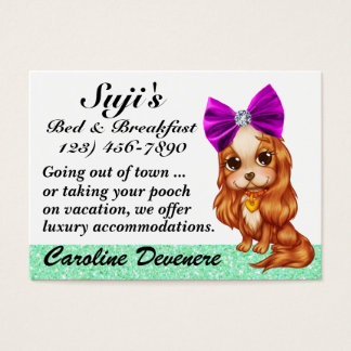 Cama do Doggy - e - pequeno almoço - SRF Cartão De Visitas