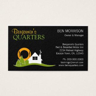 Cama - e - cartão de visita do pequeno almoço B&B