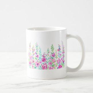 Cama floral abstrata da aguarela caneca de café