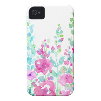 Cama floral abstrata da aguarela capa para iPhone 4 Case-Mate