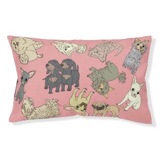 Cama misturada do cão de brinquedo, cor-de-rosa