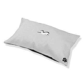 Cama Para Animais De Estimação Persiga a cama, com um galgo nele