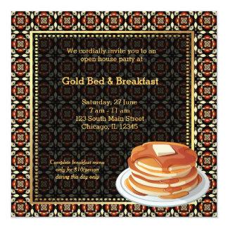 Cama & pequeno almoço da grande inauguração convites