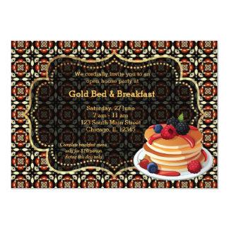 Cama & pequeno almoço da grande inauguração convite personalizado
