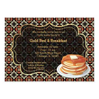 Cama & pequeno almoço da grande inauguração convite 12.7 x 17.78cm