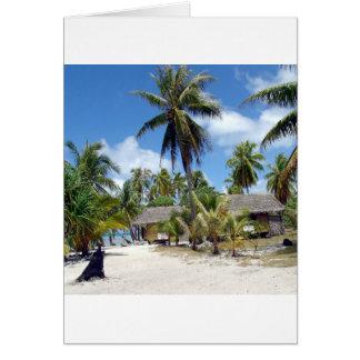 Cama tropical - e - pequeno almoço cartão comemorativo