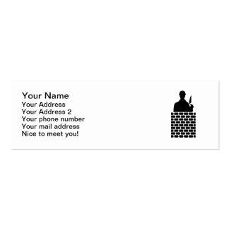 Camada de tijolo do pedreiro modelos cartões de visita