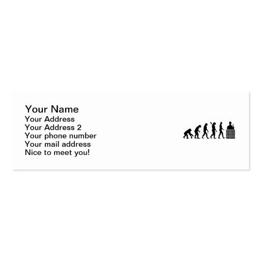 Camada de tijolo do pedreiro da evolução modelos cartão de visita