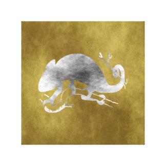 camaleão impressão em tela