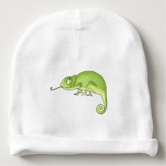camaleão verde bonito gorro para bebê