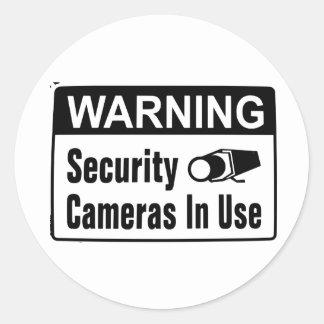 Câmara de segurança de advertência em etiquetas do adesivo