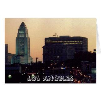 Câmara municipal de Los Angeles no cartão do