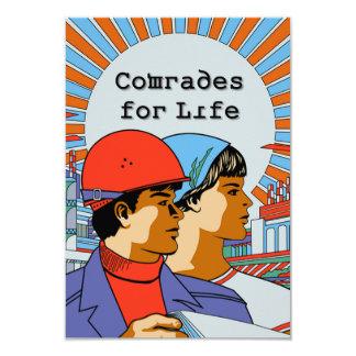 Camaradas soviéticos Para Vida Convite